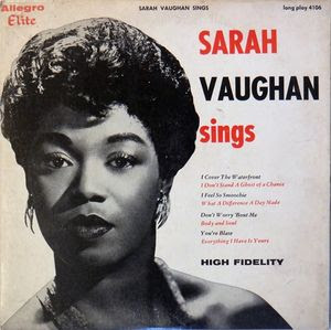 Sound projections sarah vaughan 1924 1990 legendary iconic and the music of sarah vaughan an extensive video overview a cross section of recordings musical analysis and commentary plus various interviews with ms stopboris Image collections