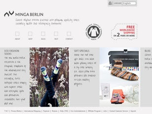 Ecommerce Website : Minga Berlin