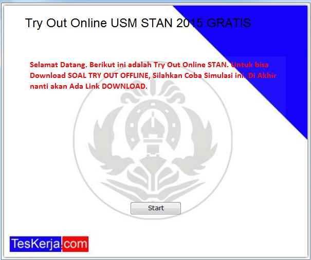 Try Out Online USM STAN 2015 GRATIS