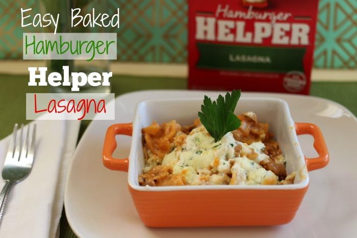 Easy Baked Hamburger Helper® Lasagna