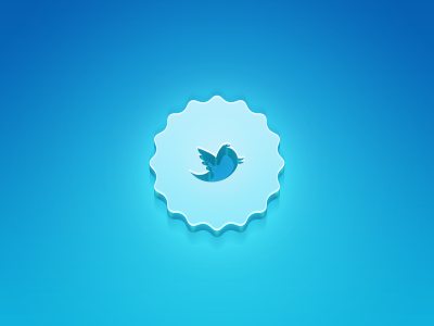 Twitter Glow 3D Badge