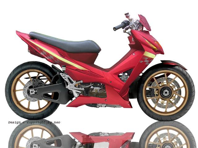 Update Gambar Modifikasi Honda Revo 2007