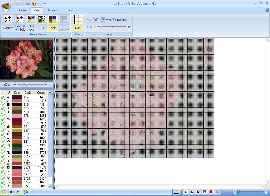 Программа вышивки крестом stitch art easy 4.0