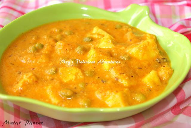 Matar Paneer (Green Peas with Paneer Curry)