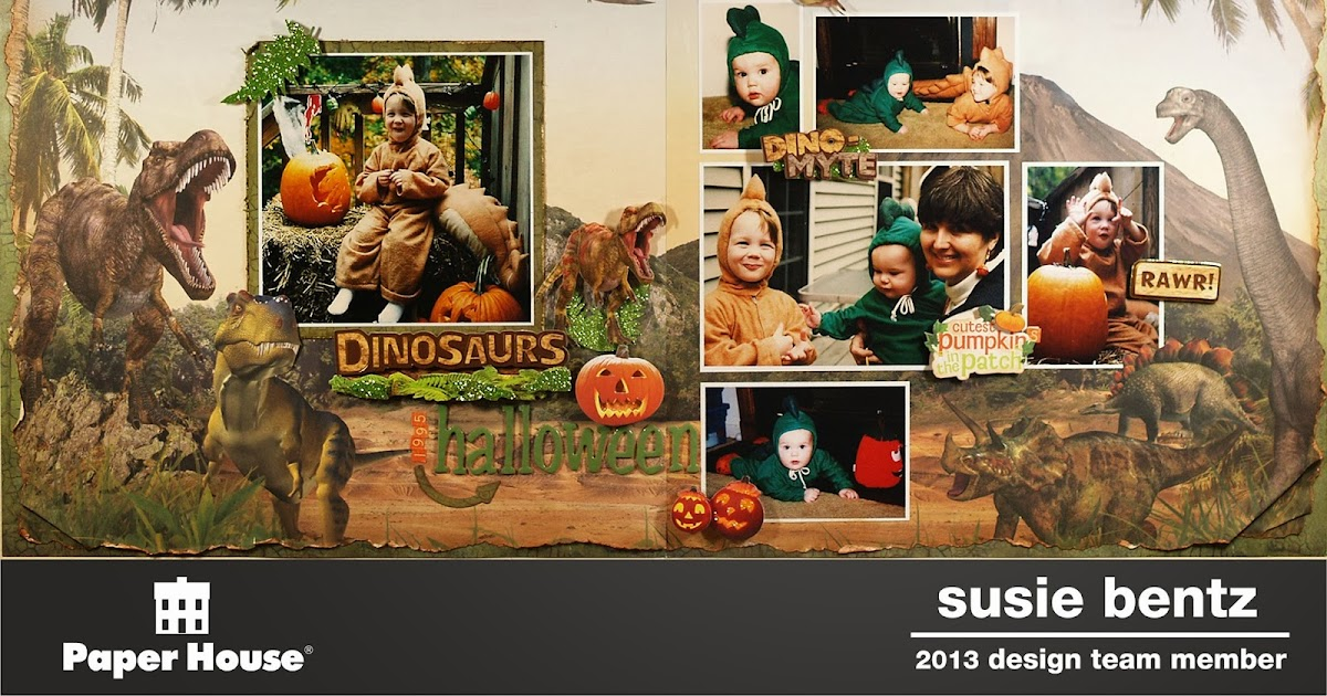 My Time To Play Dinosaur Halloween With Paper House