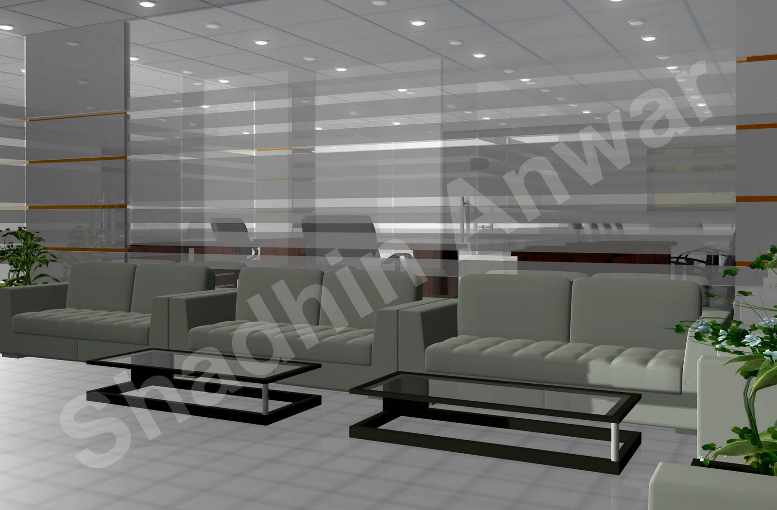 Shadhin 39 s personal blog 3d views of office interior design for Personal office interior design