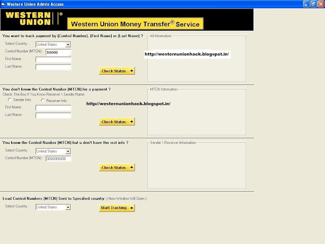 western union money transfer hack by using western union admin access 2013 100% working and tested direct download link
