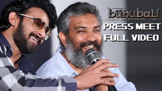 Baahubali Movie Press Meet Full Video Prabhas, Rajamouli