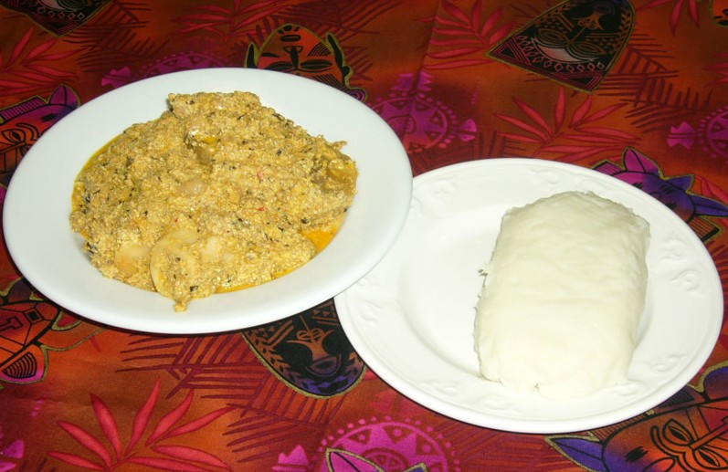how to prepare pounded yam and egusi soup
