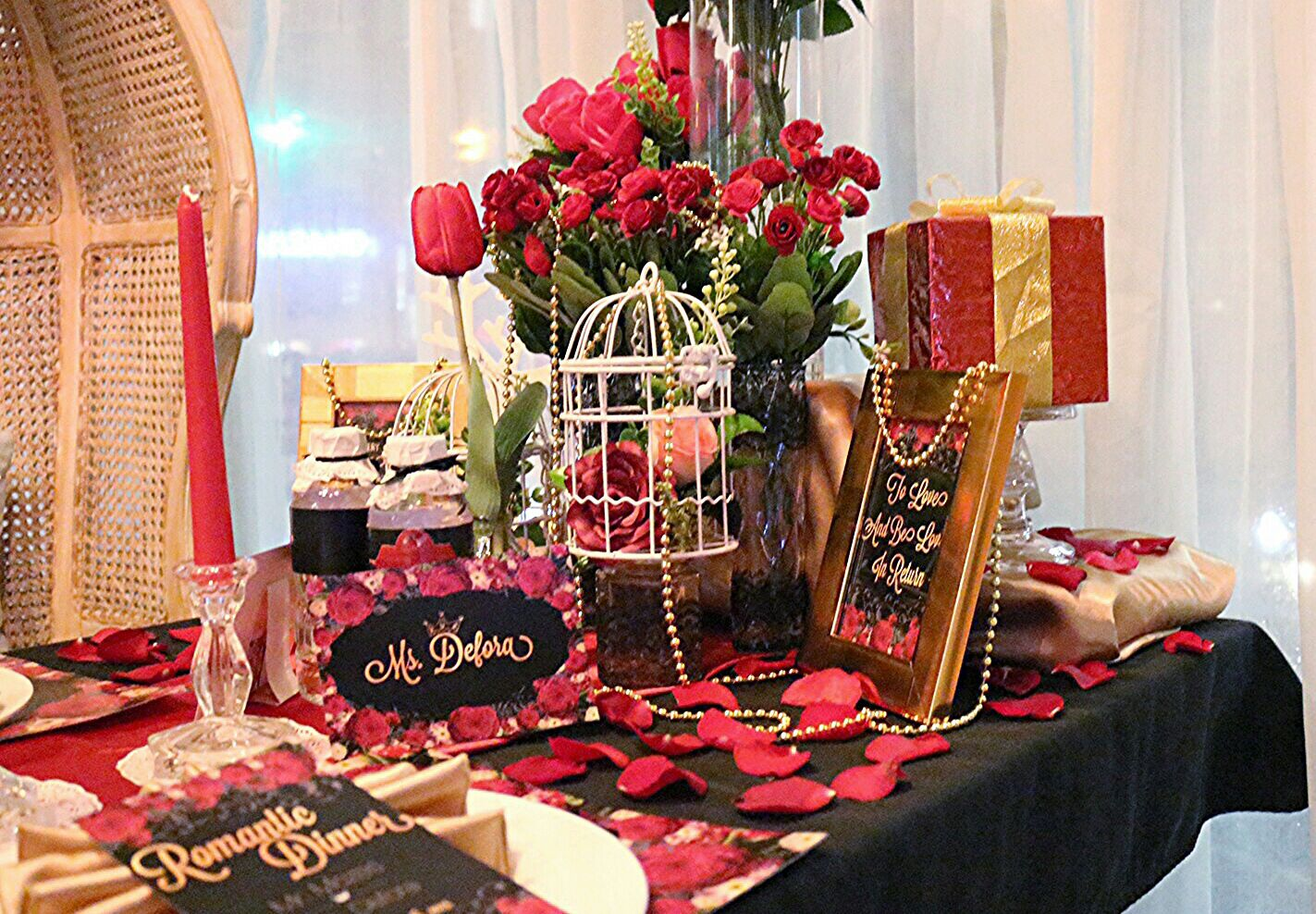 The Romantic Dinner For Romantic Couple Party Planner