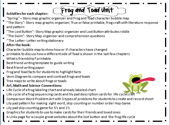 Comprehensive image within frog and toad are friends printable activities