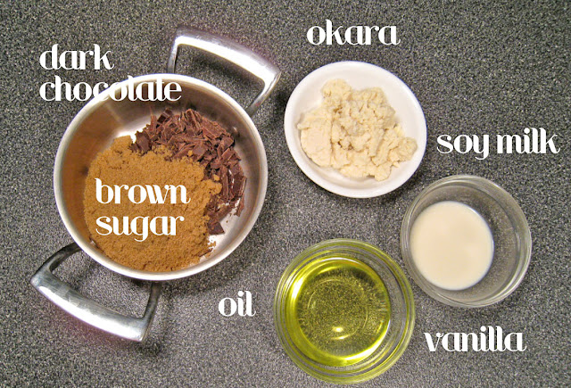 Ingredients for Okara spicy brownies