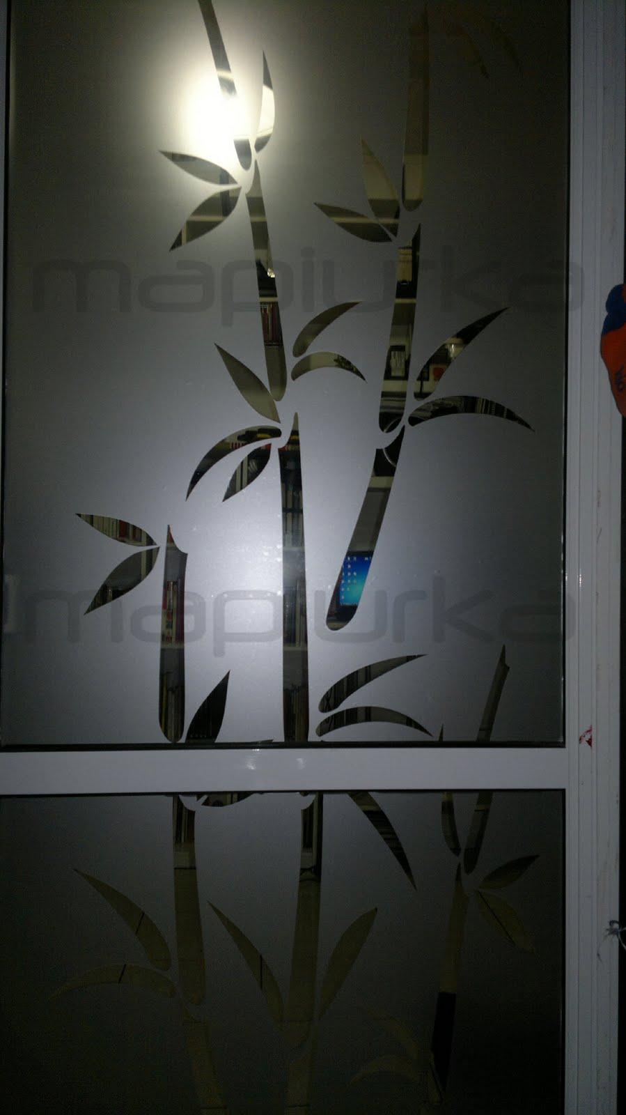 Puertas De Baño Feel:Mapiurka – Adhesivos Decorativos BA: Esmerilado con diseño oriental