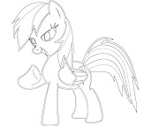 #2 Rainbow Dash Coloring Page
