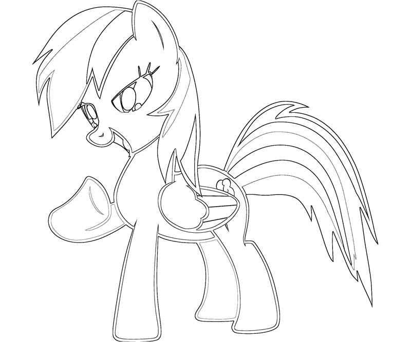 Printable My Little Pony - Rainbow Dash 1 Coloring Page title=
