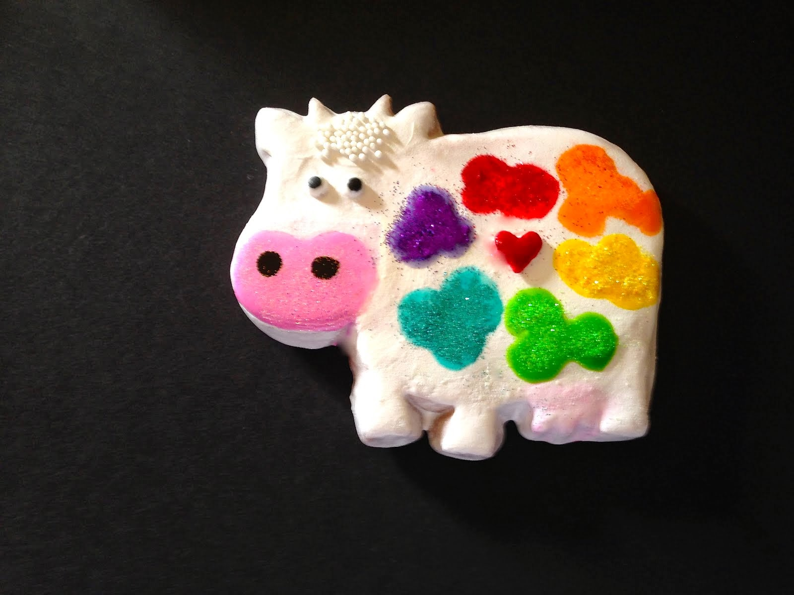 Rainbow Cow Cookie