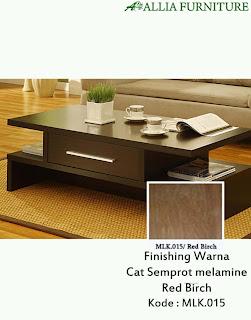 Contoh Furniture Semprot Melamine Red Birch