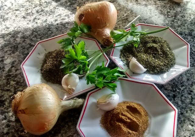 Ingredientes del falafel