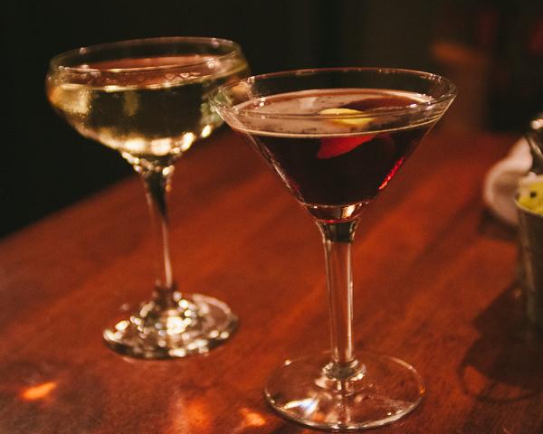 Cocktails during restaurant week at Table 3 in Nashville Tennesse