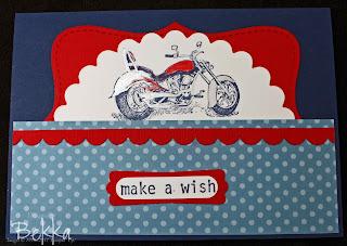 Big Bold Birthday with a Motorbike