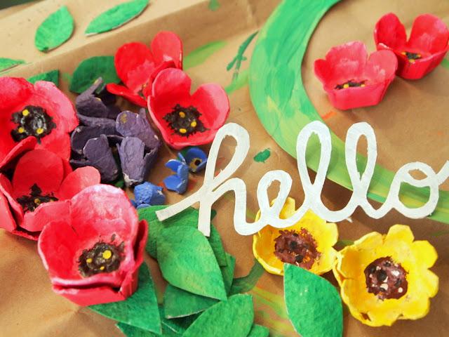 Recycled Egg Carton Craft Wreath Springtime Beautiful Paper Peonies