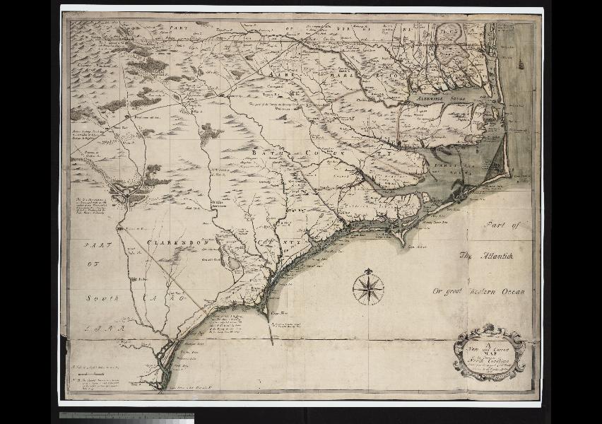 BC Brooks A Writers Hiding Place Edward Moseleys North - Usa map north carolina