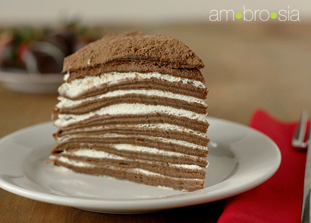 Chocolate crepe cake by Joma | We Heart It