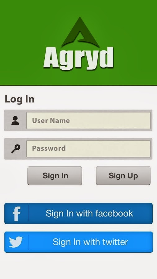 Agryd Login on Android
