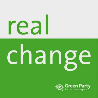Real Change, green party logo and link