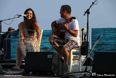 Sílvia Pérez Crua i Lluís Bofill a la 45º Cantada d'Havaneres de Calella de Palafrugell