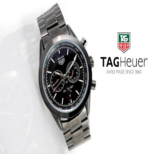 jam tangan keren TAGHEUER 300SLR BLACK