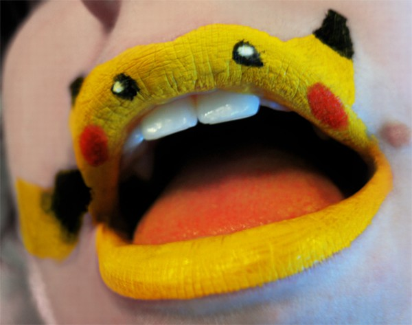 Cute Pokemon Lip Makeup