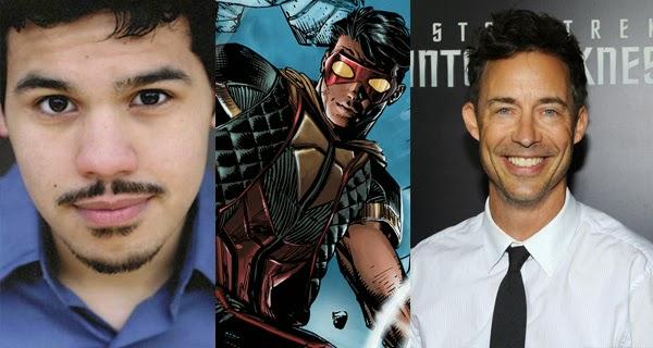 Carlos Valdes (Vibe) y Tom Cavanagh (H. Wells) en The Flash (CW)