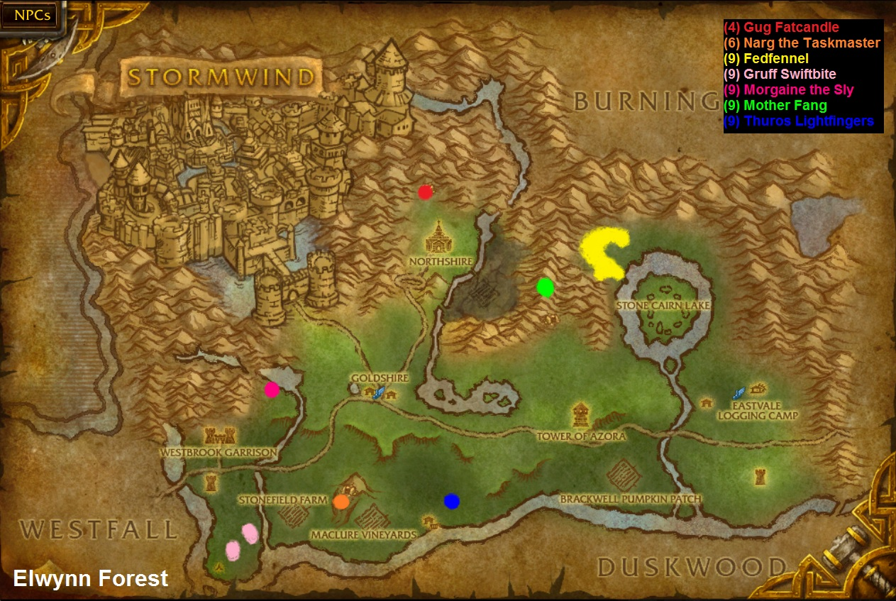 Wow rare spawns elwynn forest rare spawns click map to enlarge gumiabroncs Image collections