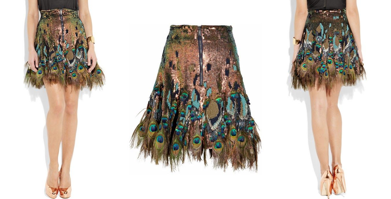 Peacock Feather Skirt 70
