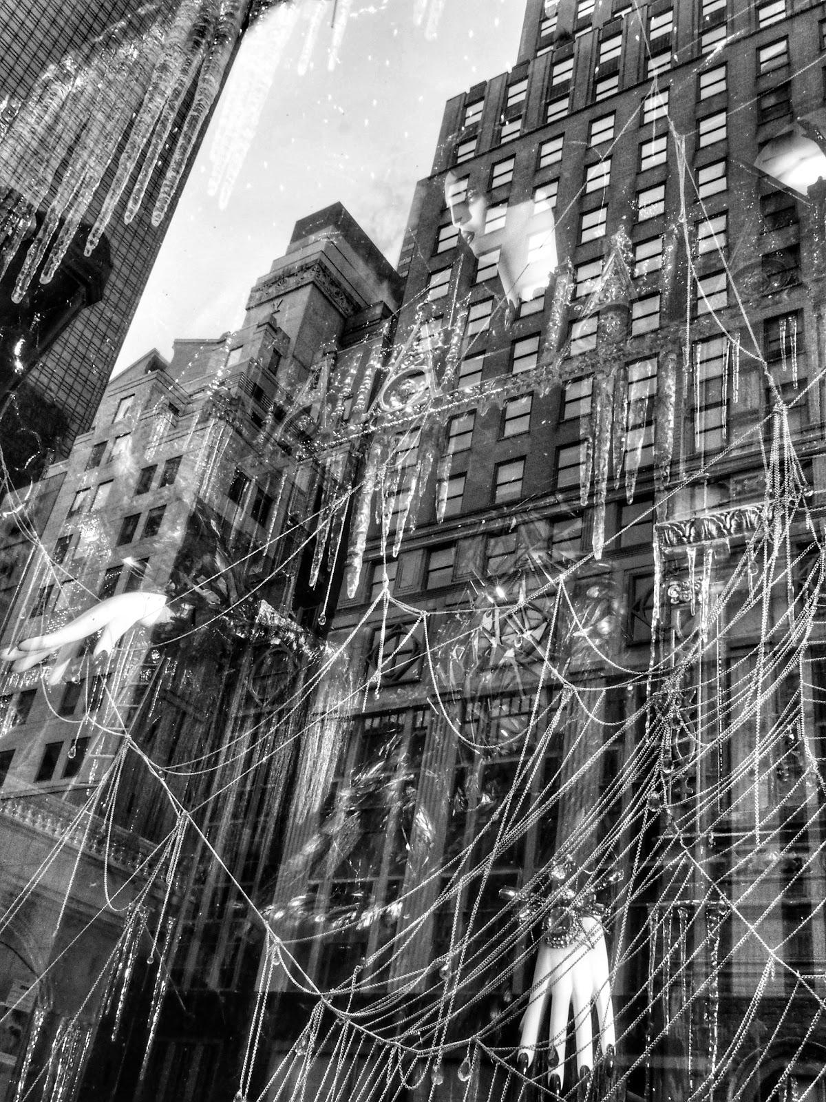 Floating, #floating #reflections #Halloween #holidaysonice #bgwindows #nyc #bergdorf #nyc 2014