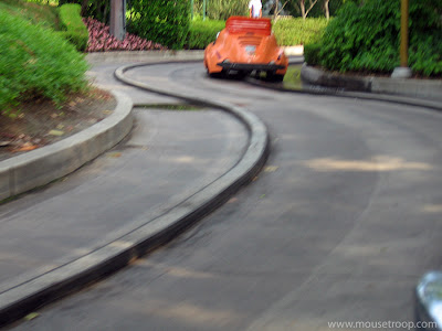 Autopia Disneyland Tomorrowland ride car space tear down drive