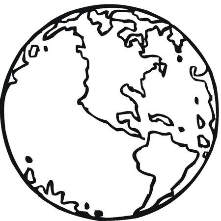 Dibujos de la Tierra para colorear | Amiguito En Línea