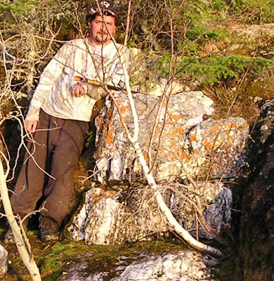 Robert freeman at large gold rich quartz vein in Manitoba