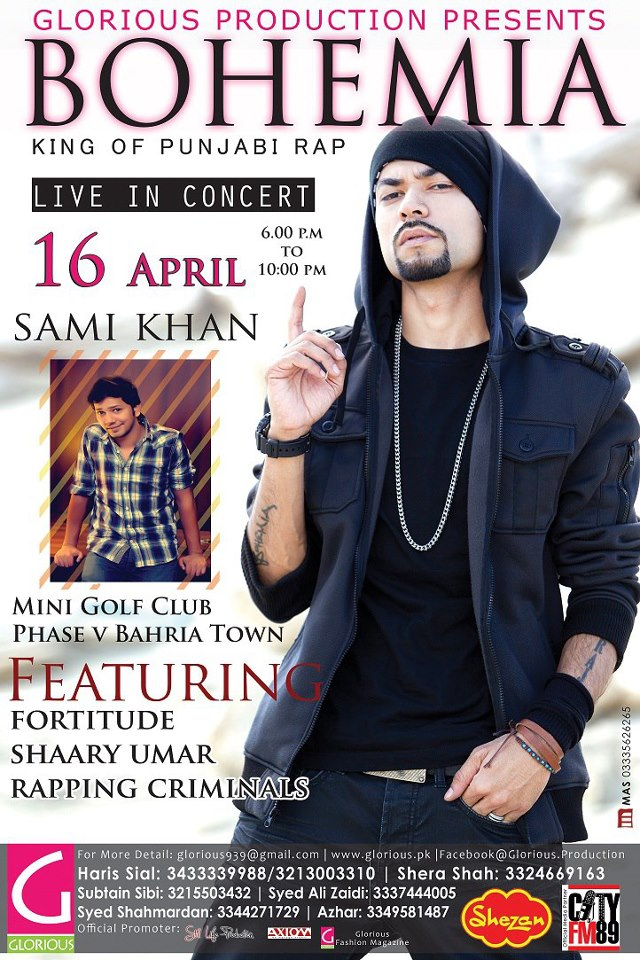 Performing live in Islamabad @ the Mini Golf Club in Bahria Town, on April 16th. 2013!