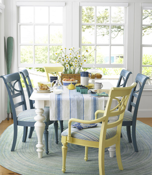 Blue Cottage Dining Room Chairs
