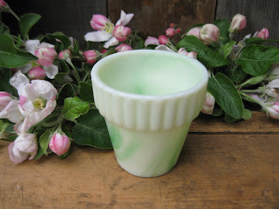 tiny agate glass flower pot