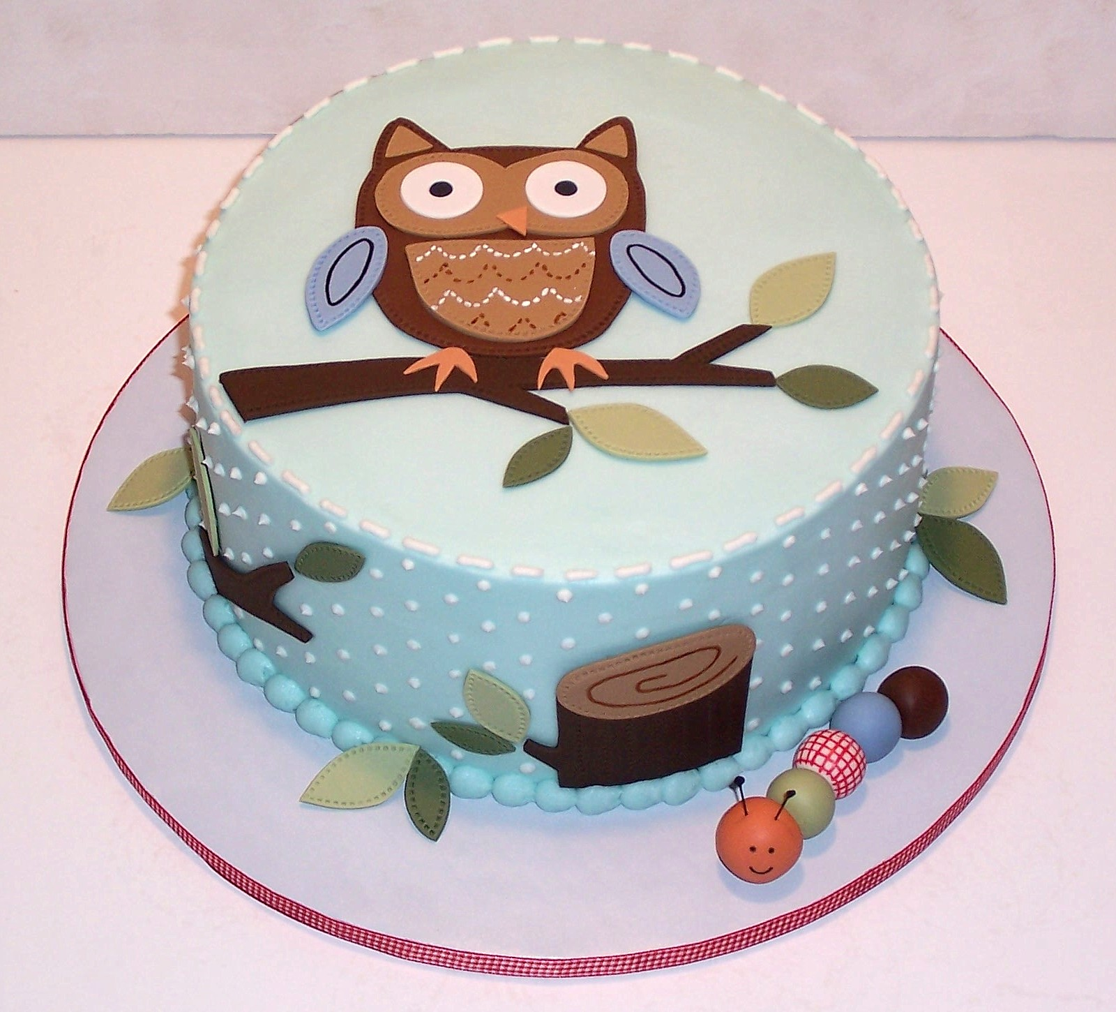 Baby shower cakes baby shower cake ideas owls for Baby shower cake decoration idea