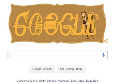 Google Doodle Hari Ini Merayakan Ulang Tahun Adolphe Sax, Sang Penemu Saxophone Ke 201