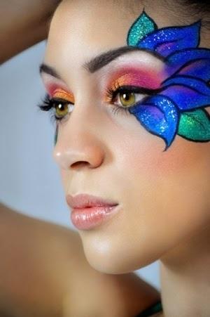 Pintar las cara de hada flores