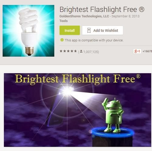 """Brightest Flashlight Free."" has been selling users data"
