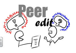 Peer editing can be a fun and helpful way to convey criticism to the author in a non-harmful environment.