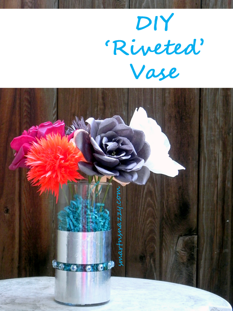 DIY Riveted Vase