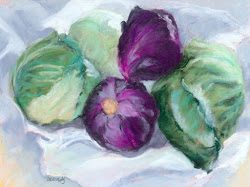Solid Little Cabbages, 6x8