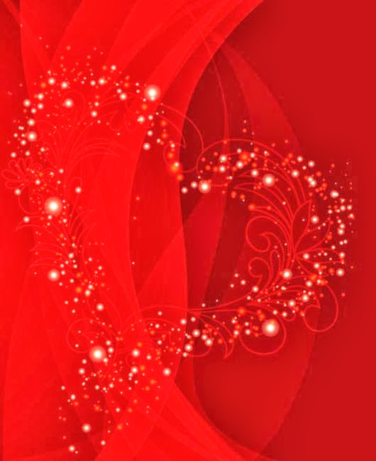 Valentines Day red vector background